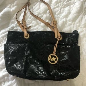 Authentic croc print MK bag